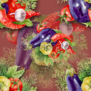 Рисунок овощей акварелью