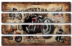 Винтаж классик с мотоциклом