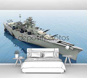 Корабль на синем море