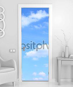 Голубое небо и много маленькие облака
