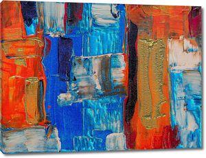 Абстракция из красочных мазков
