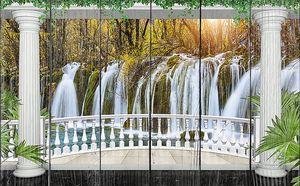 Лесной водопад с террасы