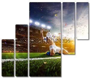 Футболист радуется голу
