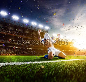 Футболист действий Панорама