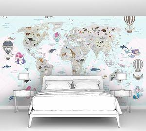 Детская карта мира с русалками