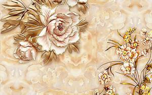 Цветы с позолоченными лепестками