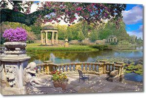 Прекрасная терраса  с сказочном парке