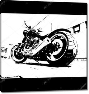 Мотоцикл гранж-фон