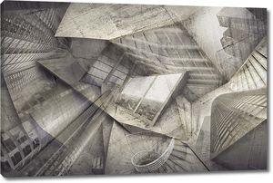 Картина с геометрическими формами