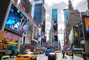 Манхэттен Нью-Йорк Таймс сквер