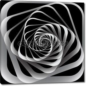 Движение по спирали. Абстрактный фон