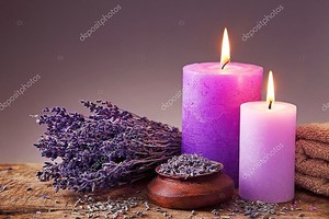 Спа Натюрморт с зажженными свечами