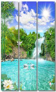 Радуга над водопадом