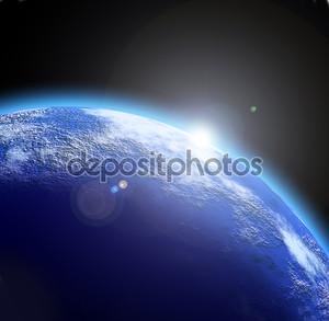Иллюстрация глубокий Космос Планета фона