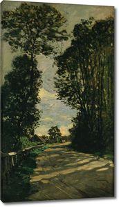 Моне Клод. Дорога на ферму Сен-Симон, 1864
