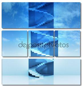 Спиральная лестница вертикального строительства