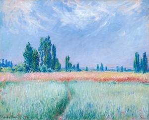 Моне Клод. Пшеничное Поле, 1881