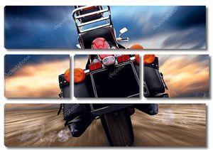 Открытый на скорость мотоцикла