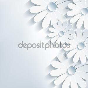 стильные креативные абстрактный фон, 3d цветок ромашка