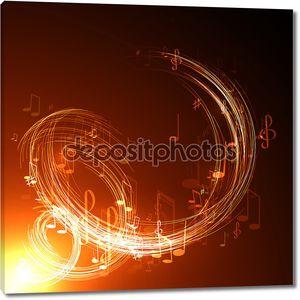 Неоновый музыкальный фон