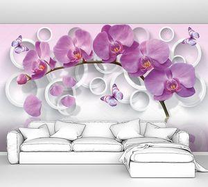 Веточка орхидеи с кругами
