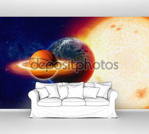 Баскетбольный мяч в космосе