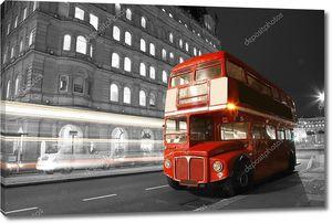 Лондонский автобус ночью
