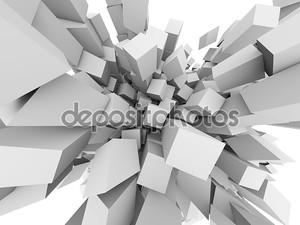 Абстрактные 3D кубов взорваться фон.