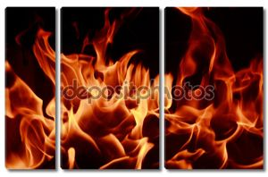 Фон пламя