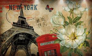 Открытка. Нью-Йорк-Лондон-Париж