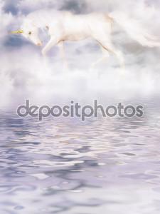 Единорог в облаках