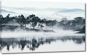Туман над широкой рекой