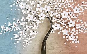 Дерево в белых цветах