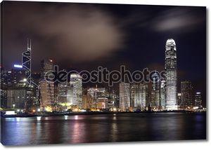Гонконг в темное время суток