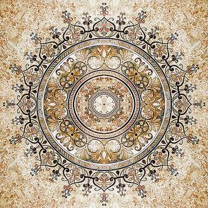Круглый арабский орнамент