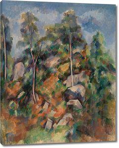 Поль Сезанн. Скалы и деревья