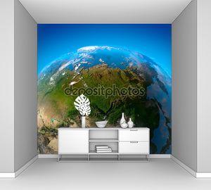 Азия, Дальний Восток, Сибирь, вид со спутников