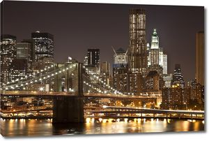 Бруклинский мост в бежевых тонах