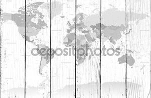 Детализированное серого мира карта