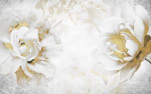 Белое с золотом
