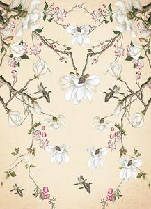 Фон из цветов на ветках