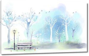 Скамеечка в парке
