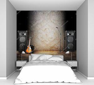 Микрофон, гитара и колонки