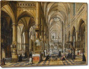 Пауль  Вредеман де Врис. Внутри кафедрального собора в Антверпене