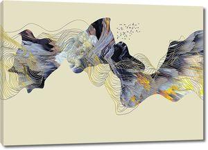 Абстракция из цветных линий