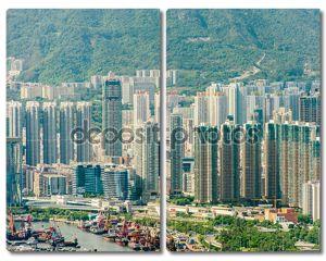 Вид из Hong Kong в Солнечный день