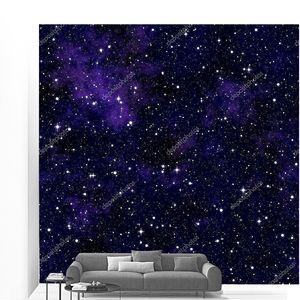 Бесшовный узор, напоминающий ночного неба со звездами