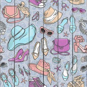 Женские модные аксессуары шаблон