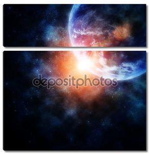 Космическая иллюстрация Земли