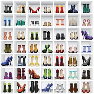 Обувь на полках